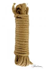 Corde de bondage 10m - Corde en chanvre, spécialement fabriquée pour la pratique des jeux de bondage et pour ligoter votre partenaire.